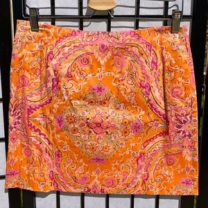 J. Crew Floral Mini Skirt with Pockets